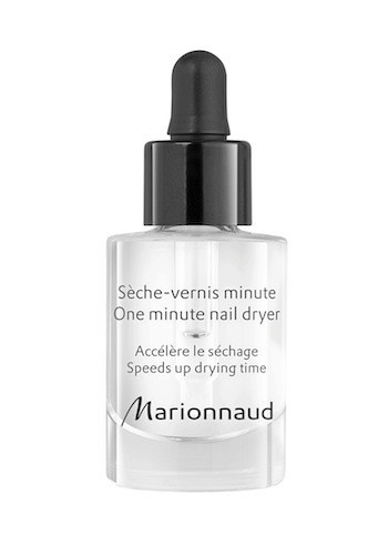 Sèche-vernis minute, Marionnaud. 8,90 €.