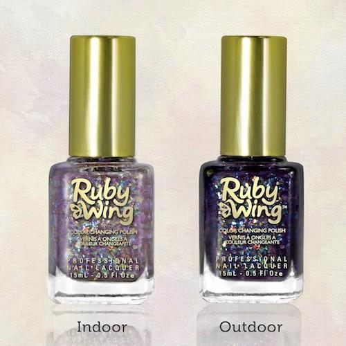 Vernis à ongles couleur changeante, Ruby Wing sur Colorclub-france.com. 16 €.