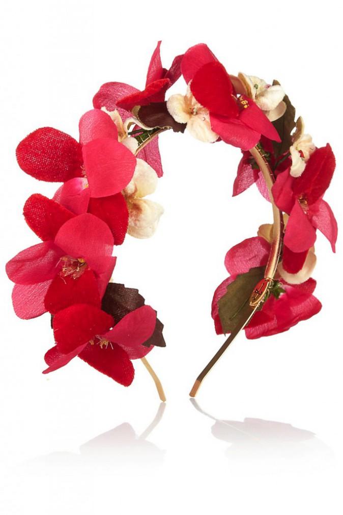 Serre-tête en velours couronne de fleurs, Eugenia Kim 156,98€