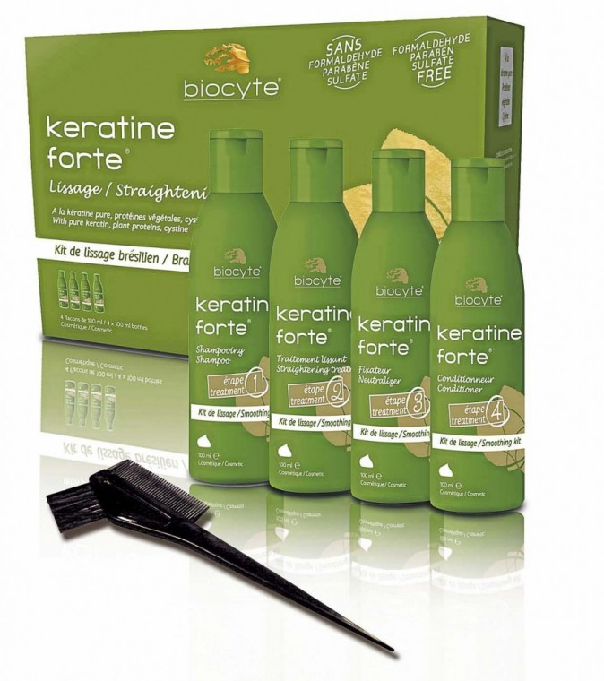 Kit Keratine Forte Lissage, Biocyte, 80€