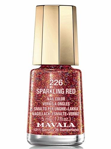 Vernis pailleté, Sparkling Red, Mavala, 5,50€