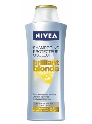 Shampooing protecteur couleur, Brilliant Blonde, Nivea. 2,75 €.