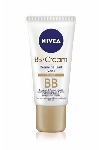 1 - BB Cream, Crème deTeint 6 en 1, Nivea. 8,90€.