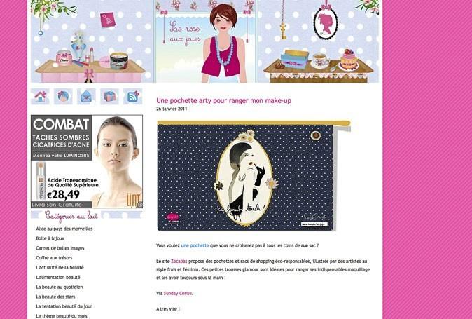 Bon plan beauté du web : Rose aux joues, le blog cosmétiques d'une beauty addict