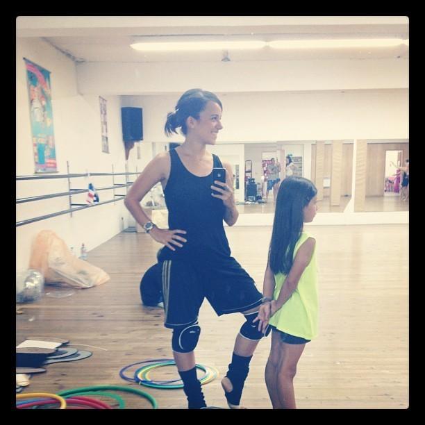 Alizée et sa fille Annily