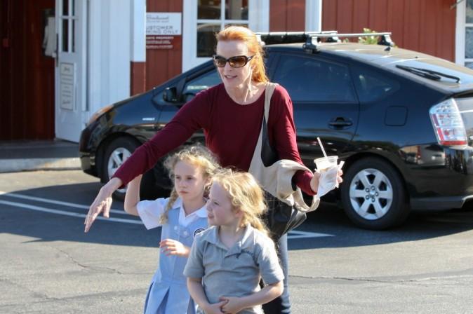 Marcia Cross et ses deux jumelles blondes