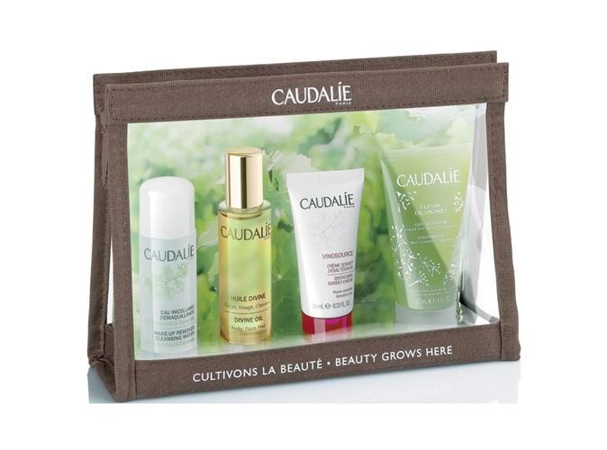 Trousse de voyage, Cultivons la beauté, Caudalie, 8,95 €.