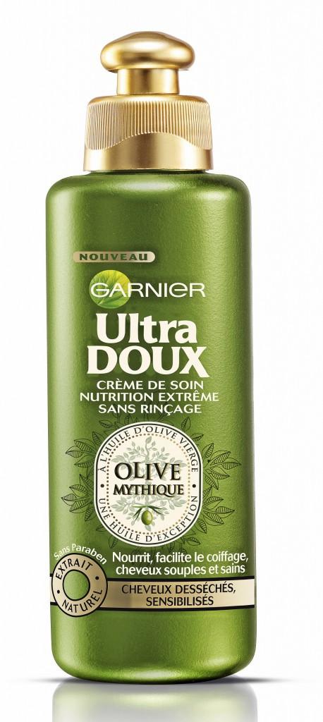 Les produits : Crème de soin nutrition extrême, Olive Mythique, Ultra Doux, Garnier 3,80 €