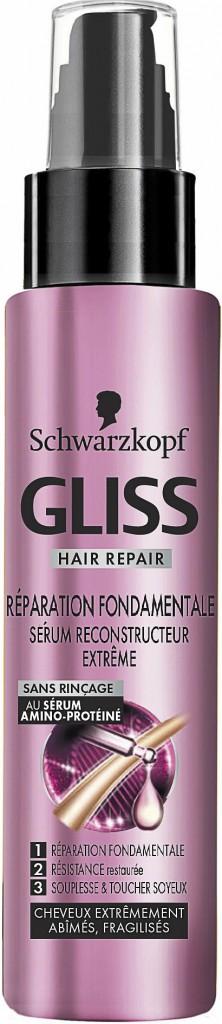 Des cheveux soyeux: Sérum reconstructeur extrême, Réparation Fondamentale, Schwarzkopf 9,90€