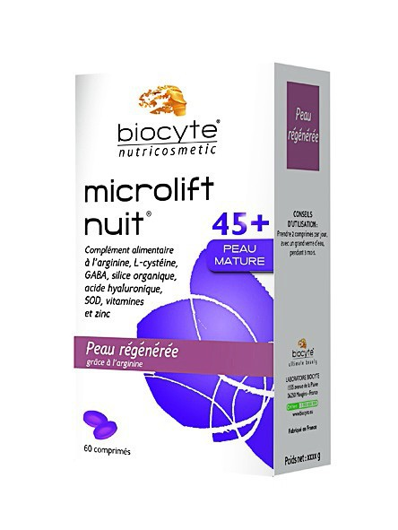 Un visage rajeuni : Le produit malin : Capsules Microlift Nuit 45+ Peau mature, Biocyte 35 €