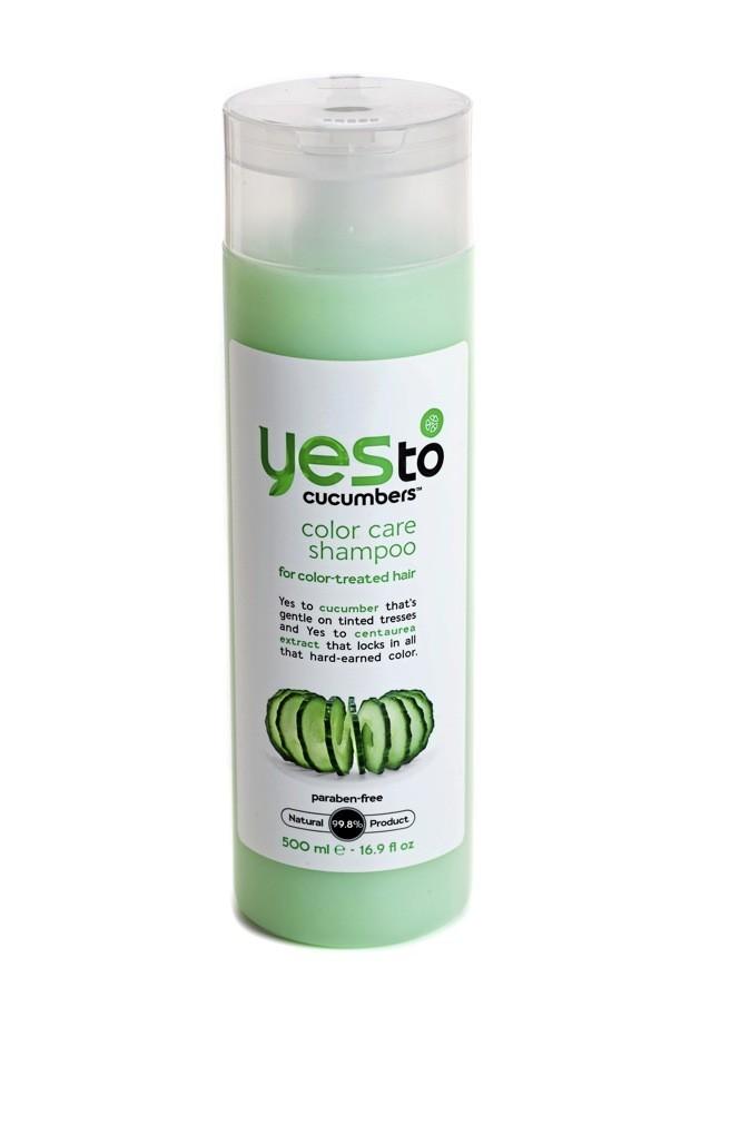 Shampoing cheveux colorés concombre, Yes to. 10€