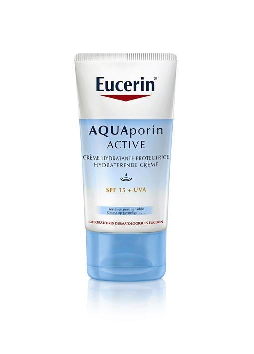 Crème hydratante protectrice SPF 15 + UVA, Eucerin. 40 ml. 17,50 €.
