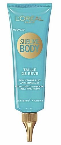 Soin ventre plat antirondeurs, Taille de rêve, Sublime body, L'Oréal Paris. 13,90 euros