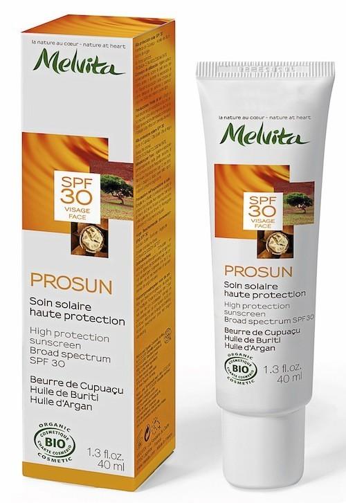Soin solaire haute protection, Prosun, SPF 30, Melvita 18 €