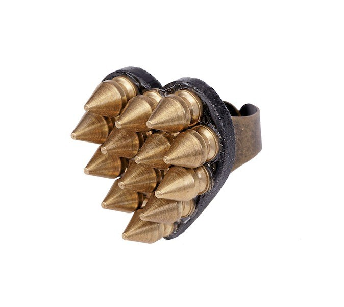 Bague en corne et métal, Chellmy Jewellery 35€