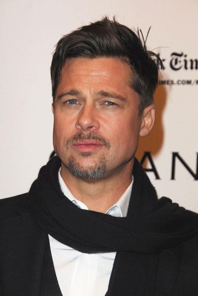 Coiffure de Brad Pitt : le wet look en 2008
