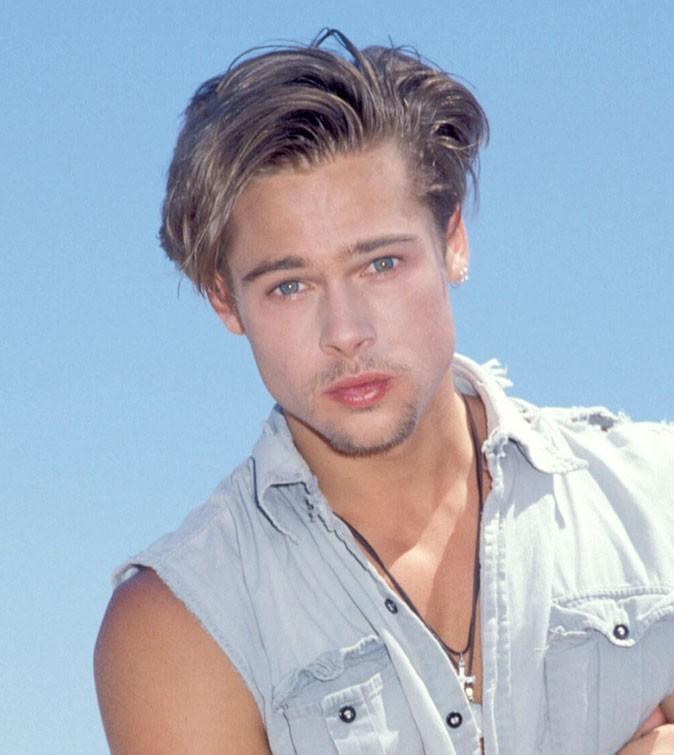 Coiffure de Brad Pitt : un brushing gonflé en 1989