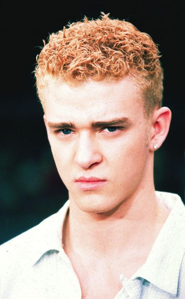 Coiffure de star : les cheveux blond décoloré de Justin Timberlake