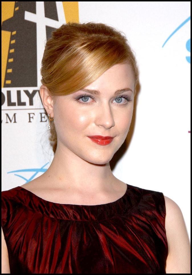 Evan Rachel Wood : association des cheveux roux + rouge à lèvres rouge en octobre 2006