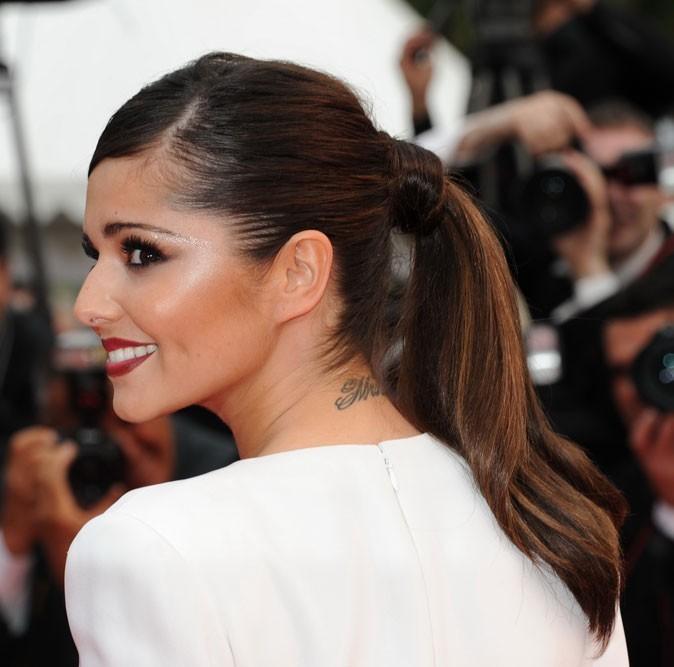 Coiffure de Cheryl Cole en mai 2011 : une queue de cheval lissée pour Cannes