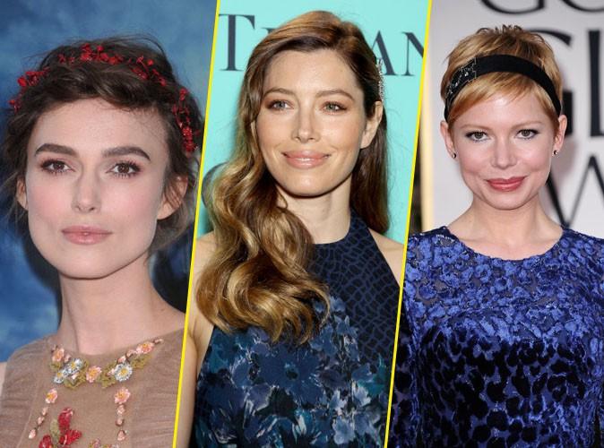 Coiffures de stars : accessoirisez vos cheveux comme Keira Knightley, Jessica Biel ou encore Michelle Williams pour les fêtes !
