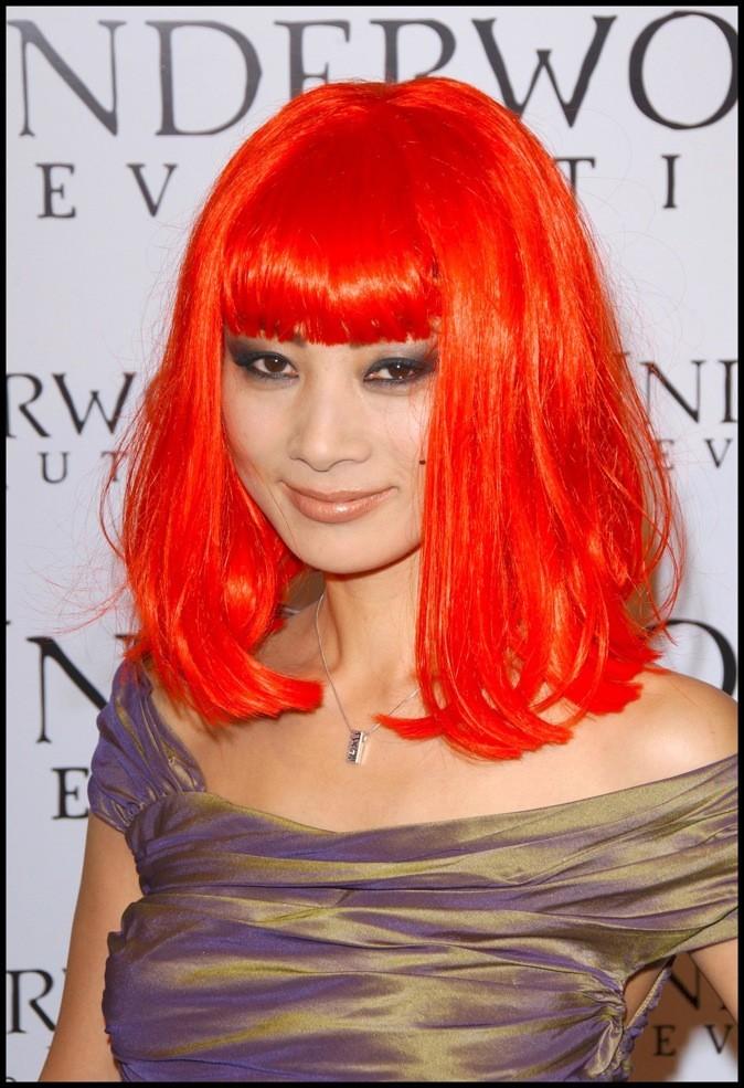 Janvier 2006 : Bai Ling et ses cheveux rouges