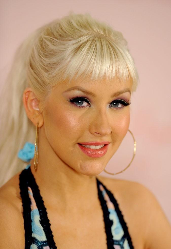 Christina Aguilera avec une frange