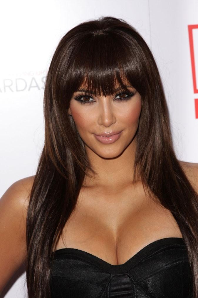 Kim Kardashian avec une frange