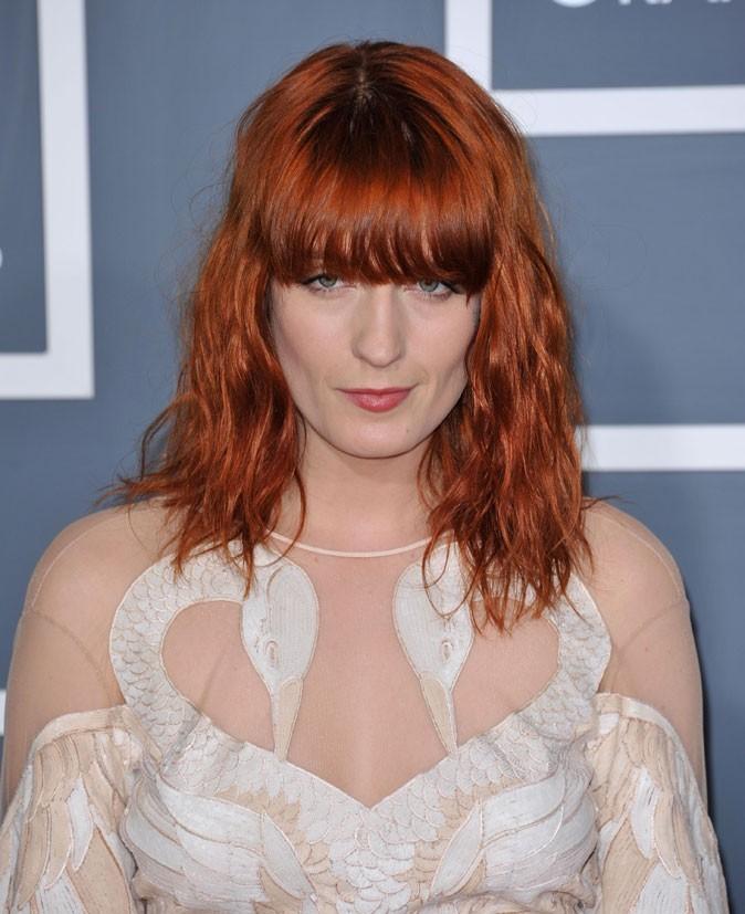 Coloration de star : les cheveux roux de Florence Welch en 2011