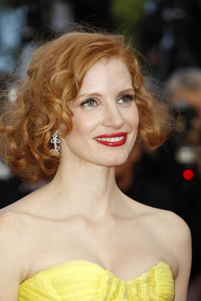 Maquillage de star au Festival de Cannes 2011 : le rouge à lèvres brillant de Jessica Chastain