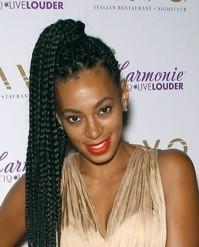 Solange Knowles et son make up vitaminé