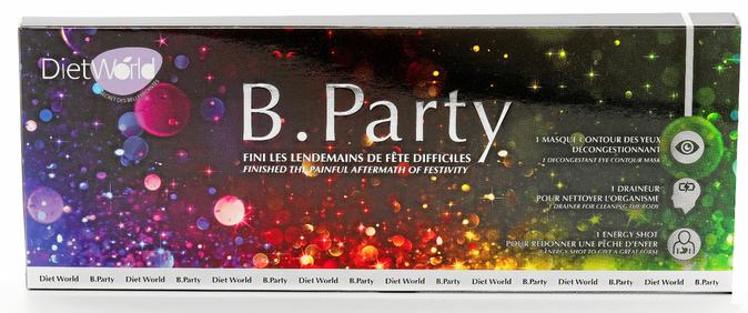 Coffret B. Party (masque décongestionnant, energy shot et draineur), Diet World. 14,90 €.