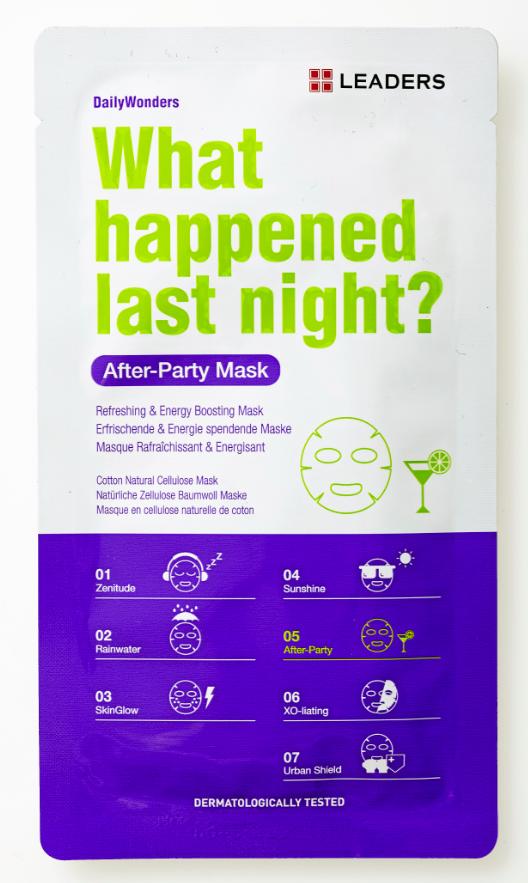 Masque What happened last night, Leaders chez Marionnaud. 5,90 €.