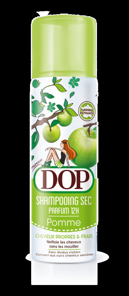 Shampooing sec à la pomme, DOP. 4,49 €