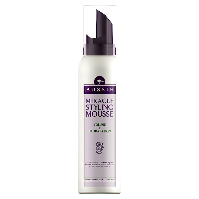 Mousse miracle volume + hydratation, Aussie. 47 €.