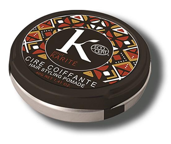 Des cheveux au vert : Cire coiffante modelage & brillance, K pour Karité 10 €