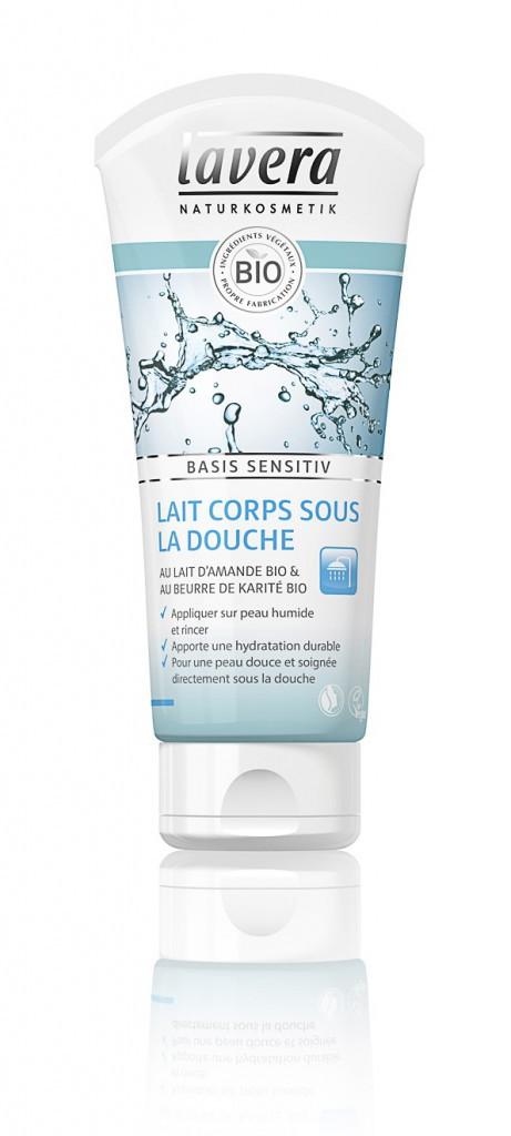 Un corps tout beau tout bio : Lait corps sous la douche, Lavera 7€