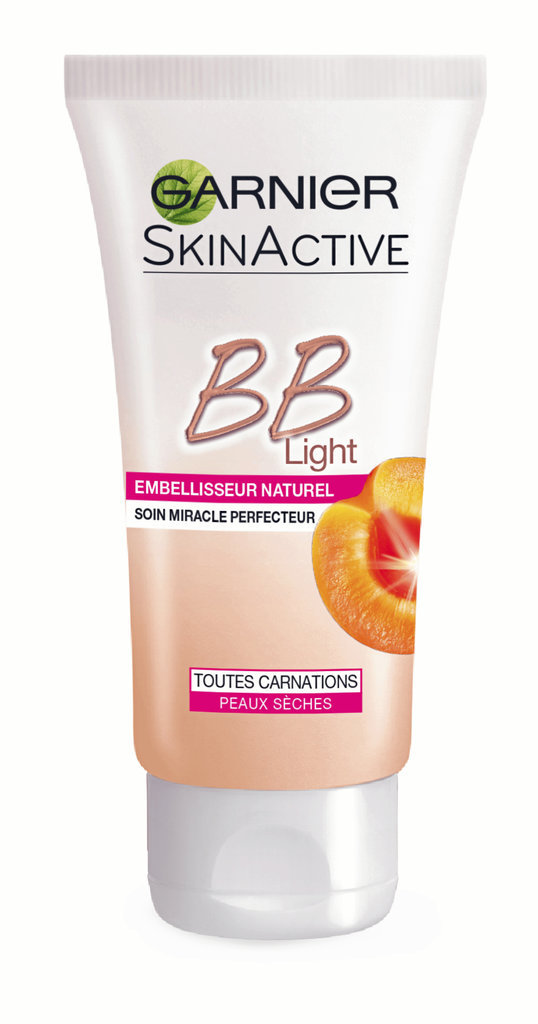 Les BB Crèmes : BB Light, peaux sèches, à l'huile d'abricot, SkinActive, Garnier 10,90 €