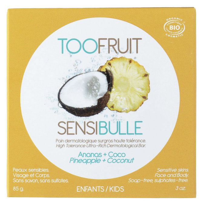 Pain dermatologique ananas + coco - Too Fruit : 5,40€