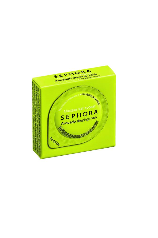 Masque de nuit à l'avocat, Sephora. 3,95 €.