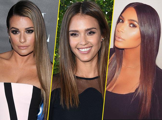 Photos lea michele jessica alba kim kardashian leurs for Lea michele coupe de cheveux