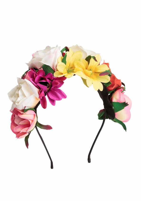 Serre-tête fleuri,H&M, 12,99 €
