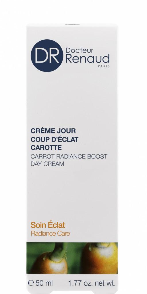 Crème jour, Coup d'éclat carotte, Docteur Renaud 27€