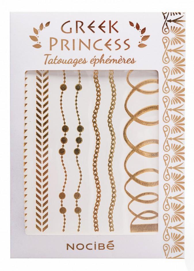 Tatouages éphémères, Greek Princess, Nocibé 9,95€