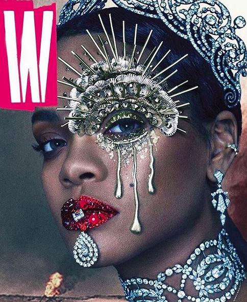 Rihanna en couverture de W Magazine en septembre 2016