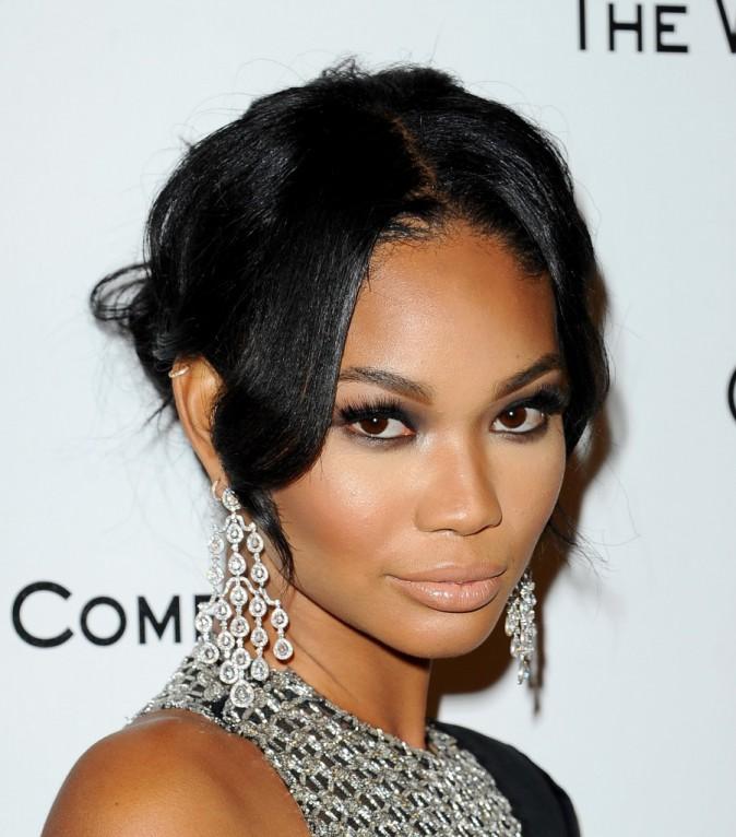 Chanel Iman : le chignon coiffé décoiffé