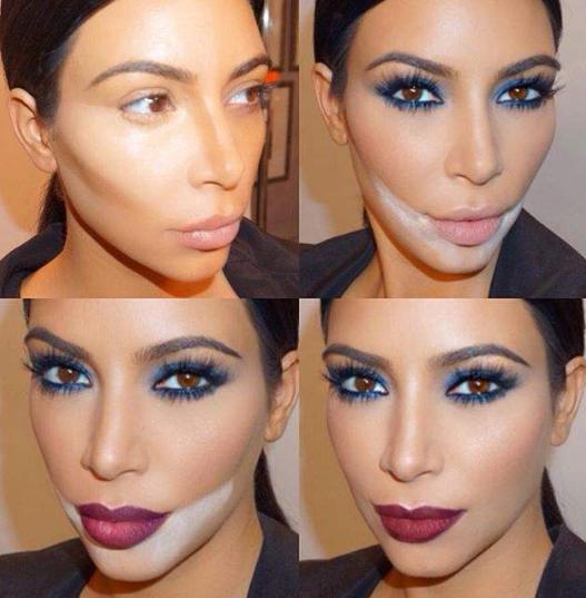 Kim Kardashian maquillée par Mario Dedivanovic