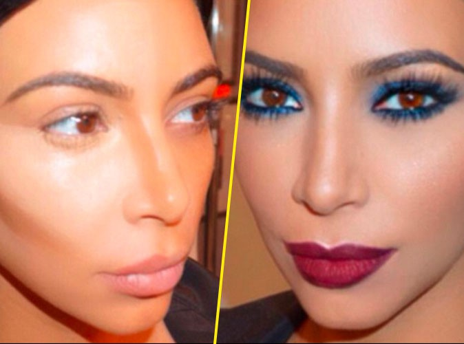 Photos : Step by step, suivez le make-up de Kim Kardashian !