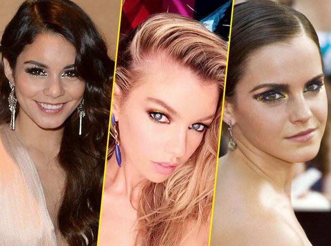 Vanessa Hudgens, Stella Maxwell, Emma Watson... Osez le maquillage paillettes pour les fêtes !