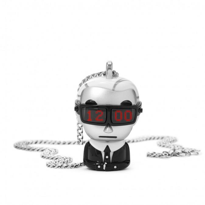 Montre collier figurine Karl Lagerfeld, Tokidoki, 279 €